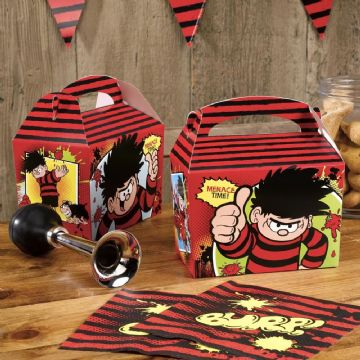 Beano, Dennis the Menace Party Food Boxes - pack of 8